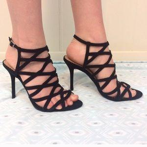 Head Over Heels Shoes - Black strappy heels