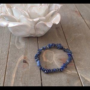 Handmade Jewelry - Handmade Lapis Lazuli Gemstone Stretch Bracelet