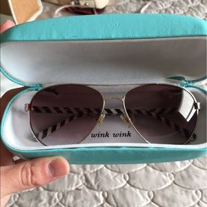kate spade Accessories - Kate Spade silver Aviators with case