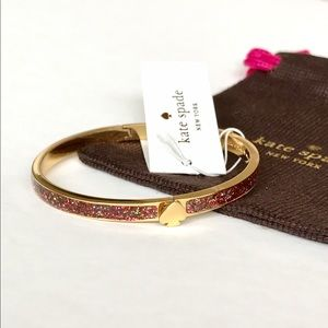 kate spade Jewelry - KATE SPADE Multiglitter Spade Bangle Bracelet