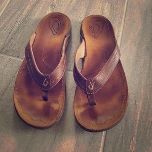 OluKai Shoes - Olukai leather flip flops