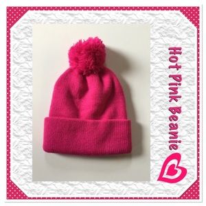 Boutique Accessories - Hot Pink Beanie