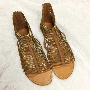 Zigi Soho Shoes - 🆕NWOB Gold & Brown Gladiator Sandal