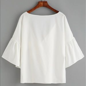 Tops - White Blouse, One Size