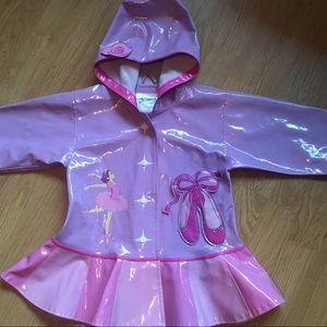 Kidorable Other - Girls Lavender Ballerina Raincoat