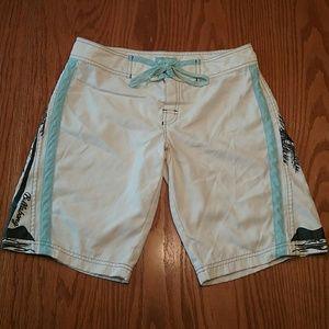Billabong Other - Men's billabong shorts blue white palm trees