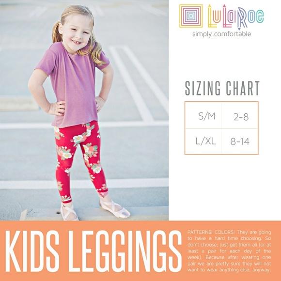 Size Chart For Kids Leggings