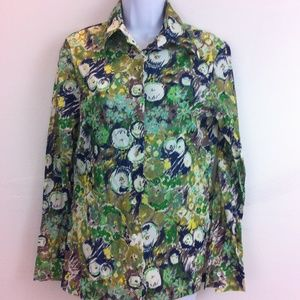 Queen Casuals Tops - 1970's Queen Casuals Fashion blouse