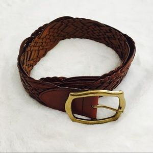 Accessories - Brown Braided Leather Belt {EUC}