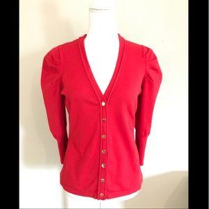 Etcetera Sweaters - Etcetera Red Cardigan