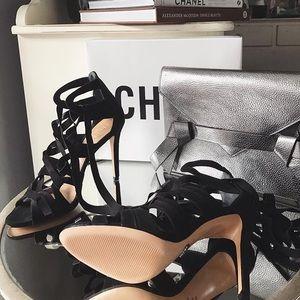 SCHUTZ Shoes - Schutz Lace Up Open Toe Heel