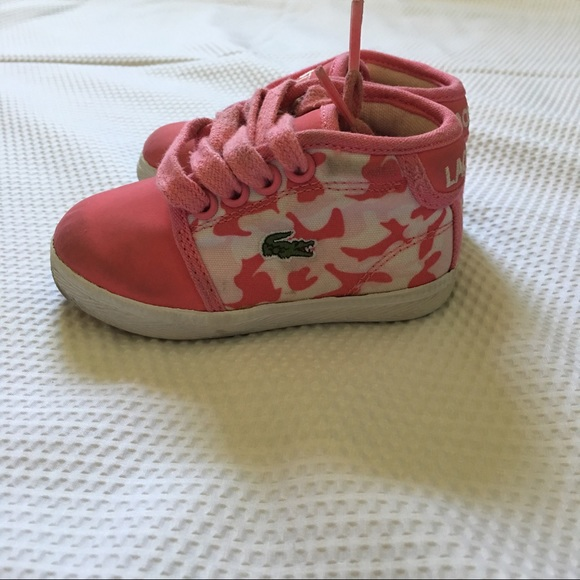 Baby Pink Lacoste Shoes