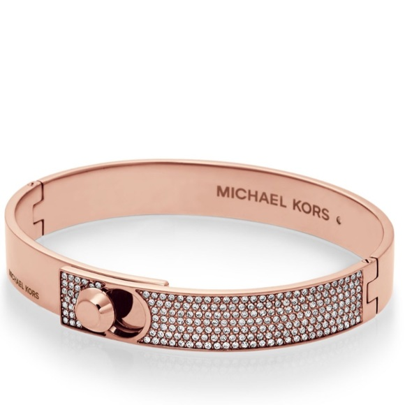 Michael Kors Jewelry Astor Rose Gold Pav Bangle Bracelet Poshmark
