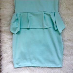 poof couture Dresses & Skirts - Mint Peplum Dress‼️