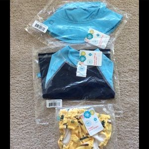 The Honest Company Other - New sun hat, swim shirt and swim diaper.
