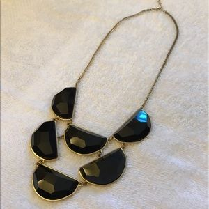 Jewelry - Black & Gold Statement Necklace