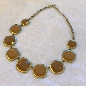 Jewelry - Tan & Gold Statement Necklace