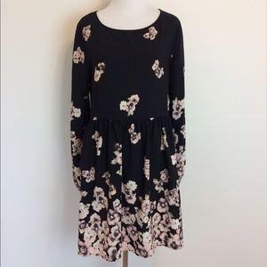 Altar'd State Dresses & Skirts - Altar'd State Black Floral Print Long Sleeve Dress