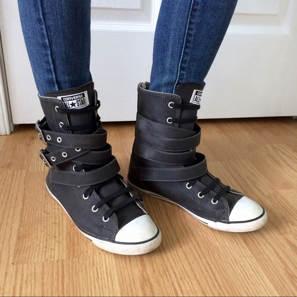 Converse Shoes | Grey Zip Up Strappy