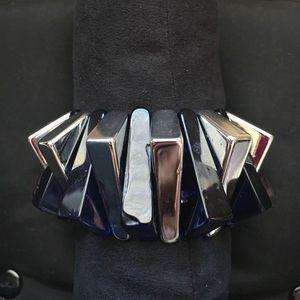 Jewelry - Navy/Silver Stretch Bracelet