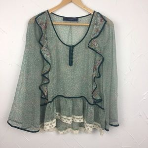 Anthropologie Tops - Lumiere Sheer Peasant Top from Anthro
