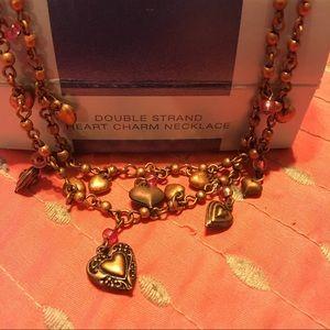 Avon Jewelry - Avon double charm strand necklace