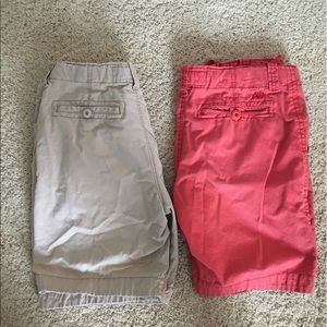 Other - Two pair of khaki shorts (red and khaki)