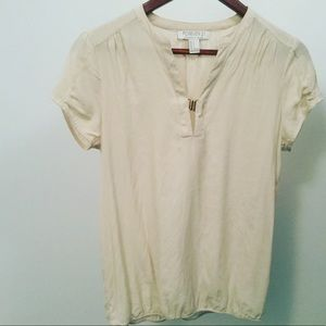Tops - Ivory Top/Gold Closure