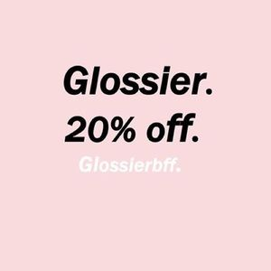 Glossier Other - 20% Glossier discount + free shipping!