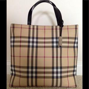 Burberry Handbags - Authentic Burberry nova check classic tote