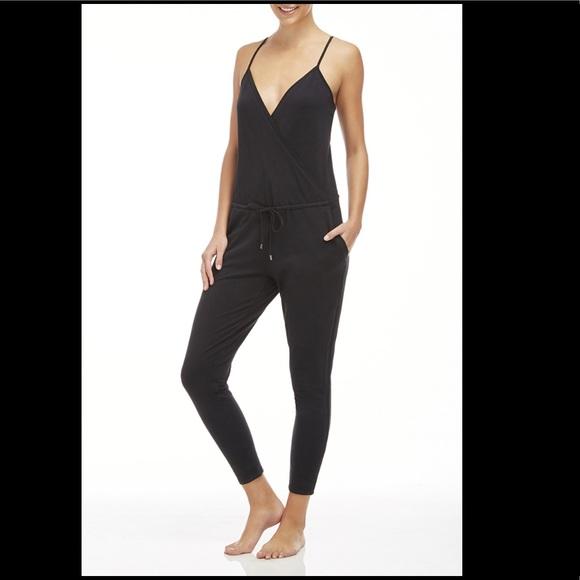 8aca11ecf68 Fabletics Pants - Fabletics Bordeaux Black Jumpsuit