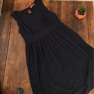 Maternal America Dresses & Skirts - Maternal America navy blue with golden dots dress