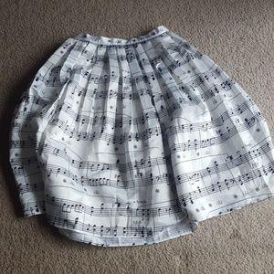 Chicwish Dresses & Skirts - Chicwish Midi Skirt Dance With Music Notes NWT XL