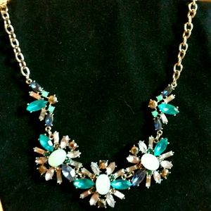 Jewelry - Jeweled Blue & Teal Statement Necklace