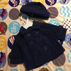 Starting Out Other - Baby boy sailor style peacoat
