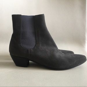 Common Projects Shoes - Common Projects dark grey suede booties