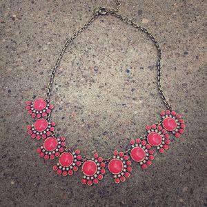 J. Crew Jewelry - J Crew Coral Pink Statement Necklace