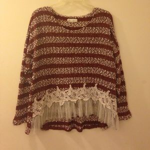 Areve Sweaters - Red & White Sweater