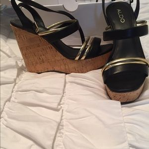 Shoes - Black And Gold Wedges from Aldo!