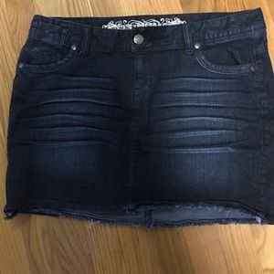 NWT Express Jean Skirt Dark Washed 5 Pocket