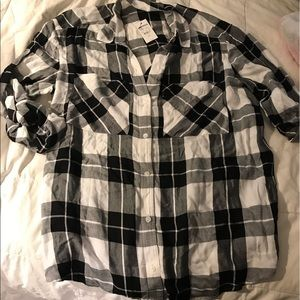 Small plaid flannel Express NWT
