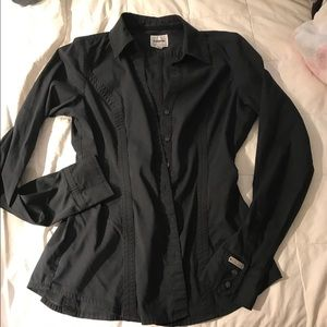 Black express button down SM