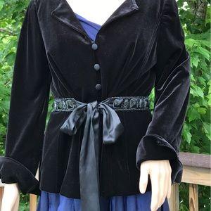 Adrianna Papell Jackets & Blazers - Adrianna Papel Velvet Embellished Evening Jacket