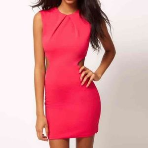 cut out off sides sheath Fit Casual Cocktail Party