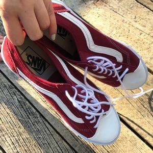 Maroon suede Vans style 36 old skool NWT