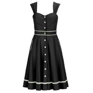 eshakti Dresses & Skirts - Eshakti Tipped Trim Poplin Shirtdress