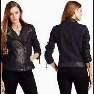 Lucky Brand Jackets & Blazers - Lucky Brand Leather Cotton Biker Moto Jacket