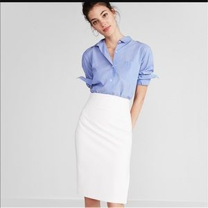 Express high waist white pencil skirt