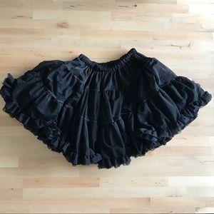 American Apparel Dresses & Skirts - american apparel. petticoat slip skirt. black.