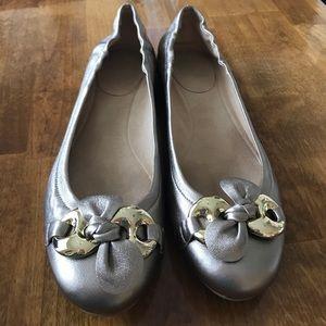 Stuart Weitzman Shoes - Stuart Weitzman Gold Lolly flat. Size 10!